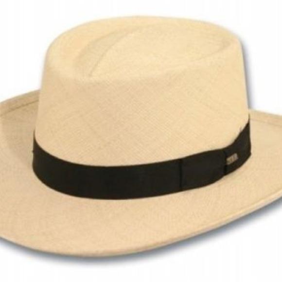 287761d9a81bd Scala Men s Panama Gambler Hat Natural Medium Mens